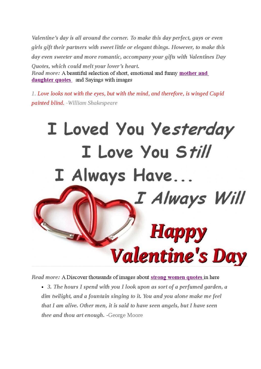 15 sweet valentines day quotes (Có hình ảnh)