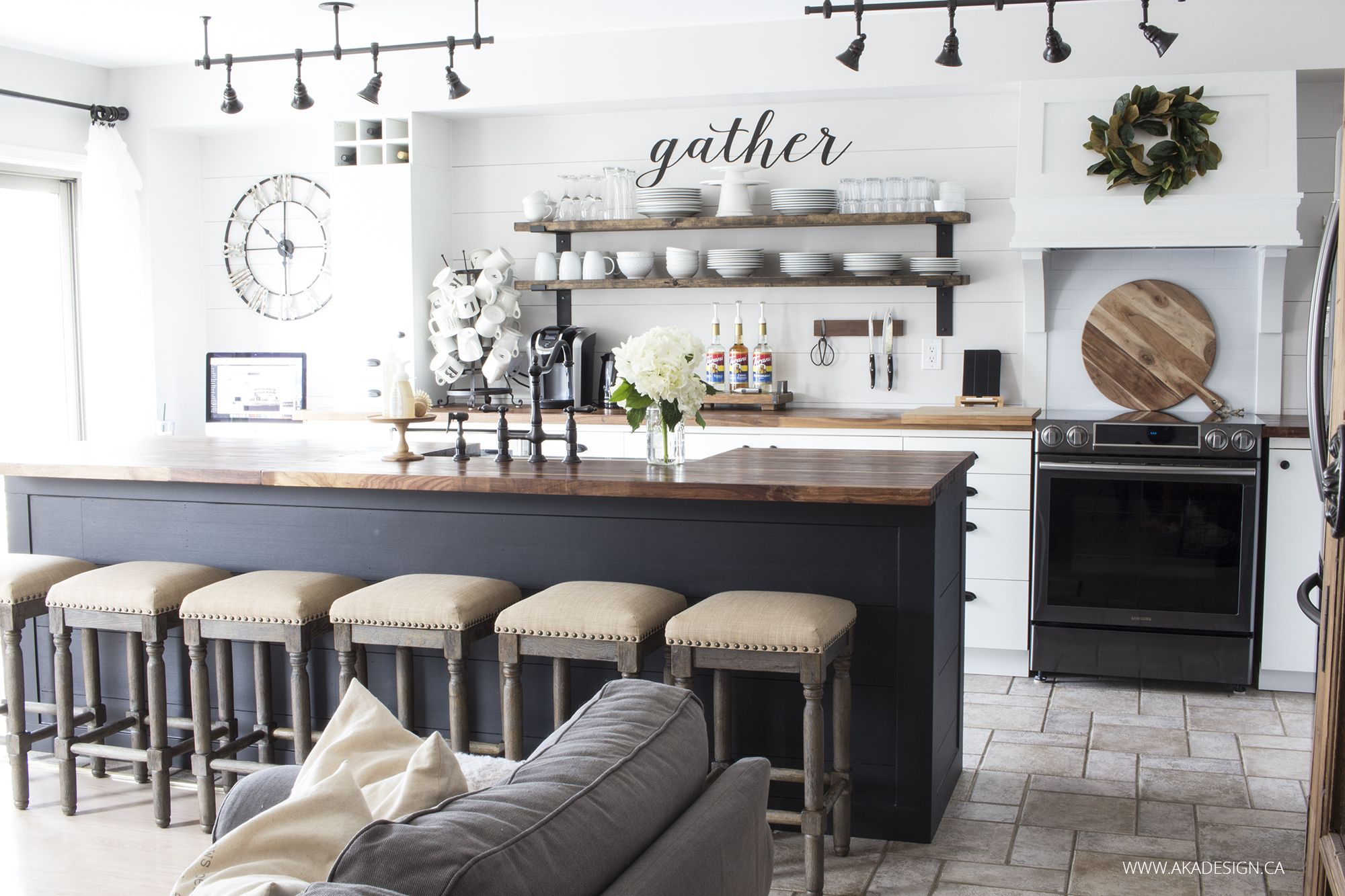 Black Island Kitchen Our Modern Farmhouse Kitchen Makeover Farmhouse Style White