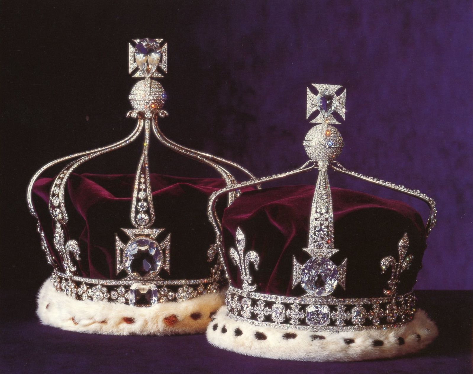 Queen Mary's Crown (in the background), designed for her