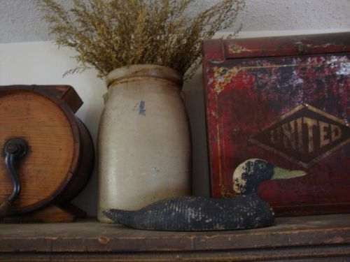 Early Antique Duck Decoy Hunting Lodge Decor Wood Old