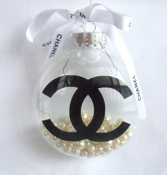 Chanel Christmas Ornaments.New Magnificent Chanel Christmas Ball Ornament Decoration