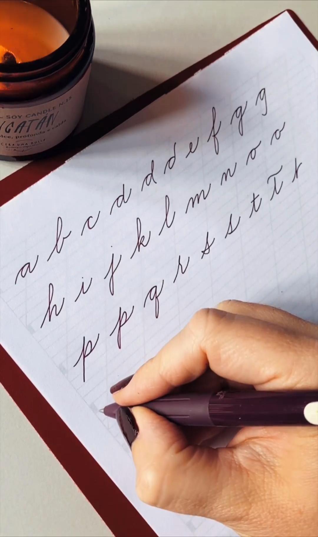 Cursive Alphabet Discover Calligraphy