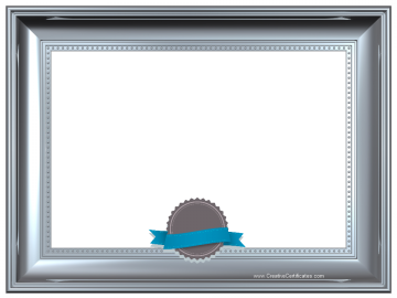 Silver frame border template with a grey and blue ribbon 123 silver frame border template with a grey and blue ribbon yadclub Images