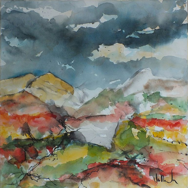 "Jac Volbeda 2012 Painting ""Baleshare 4"" SOLD. #volbeda #art"