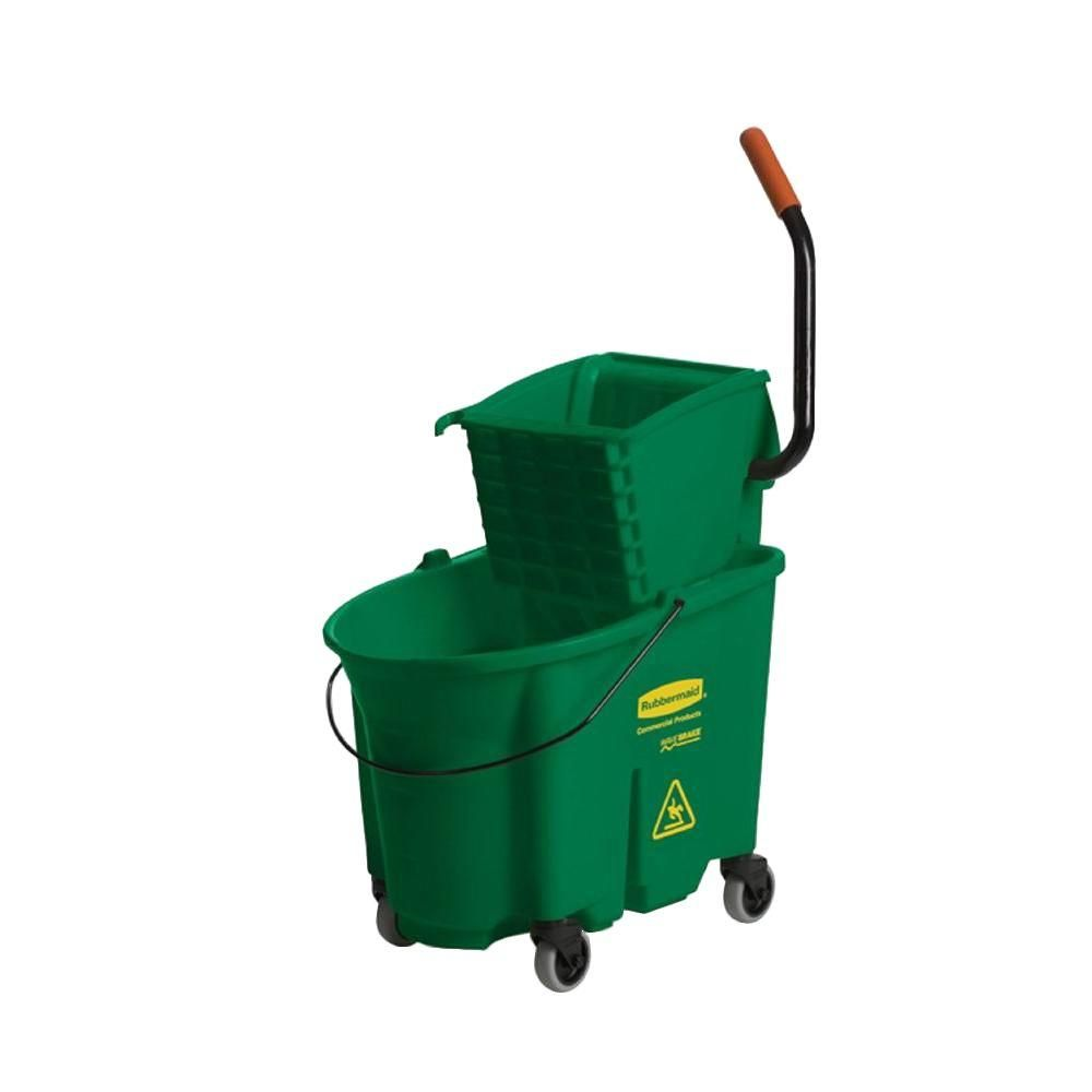 Rubbermaid Commercial Products 35 Qt Green Wavebrake Side