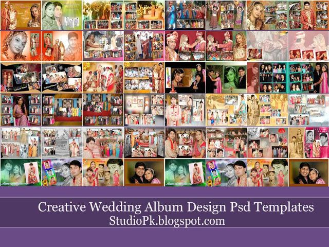 Wedding Album Design Templates PSD Free Download | Indian