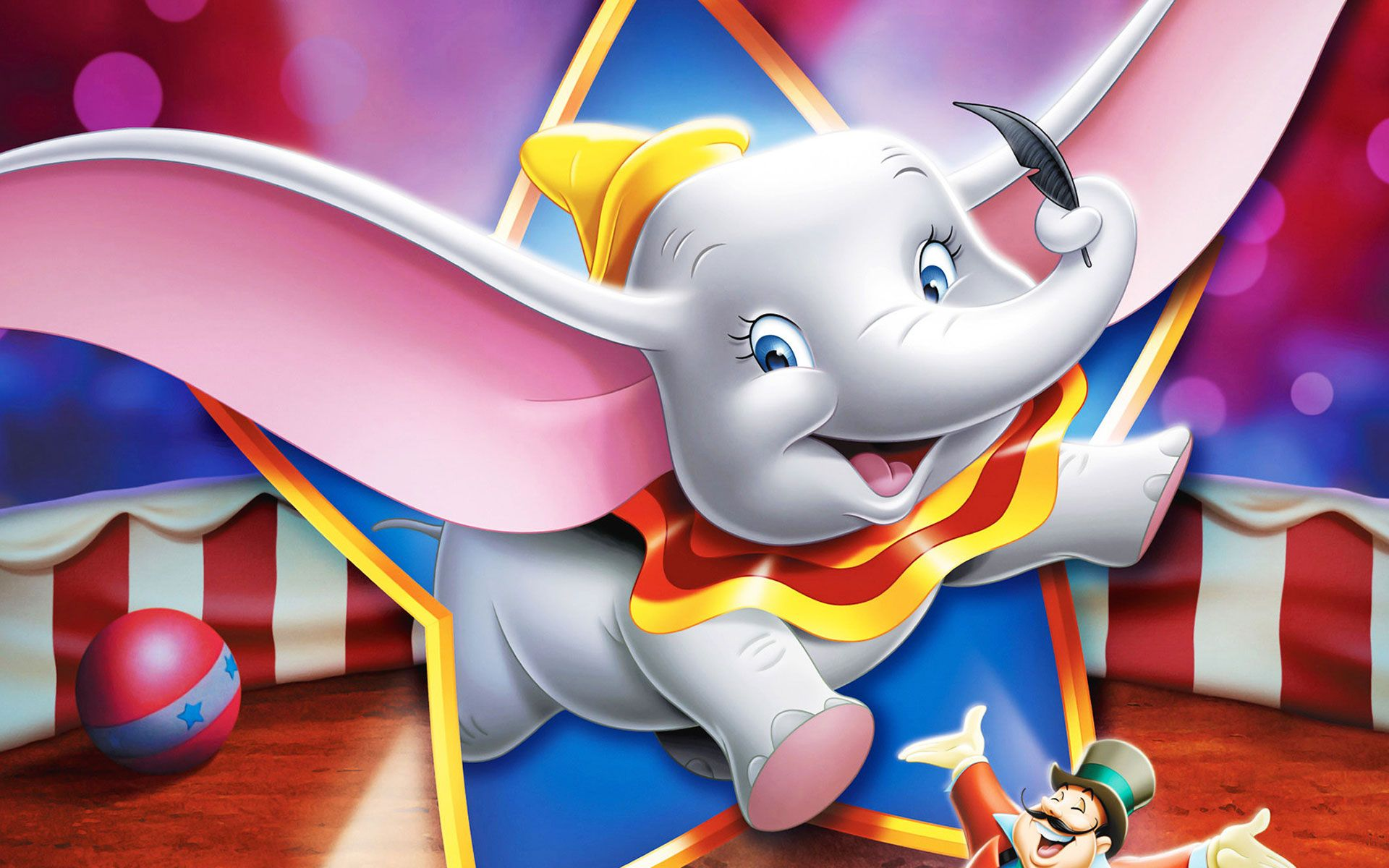 Dumbo Elephant And Magic Feather 1920x1200 Wallpaper Hd Anime Disney Dumbo Dumbo Movie Disney Movie Posters