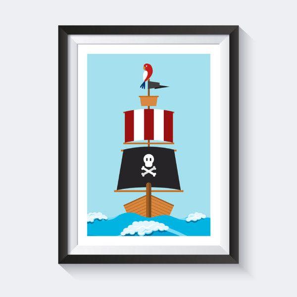 drucke plakate piraten bild piraten bilder kinderzimmer bilder poster kinderzimmer. Black Bedroom Furniture Sets. Home Design Ideas