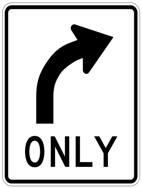 source http://www.wpclipart.com/page_frames/full_page_signs/traffic_signs_1/right_only_sign.png.html