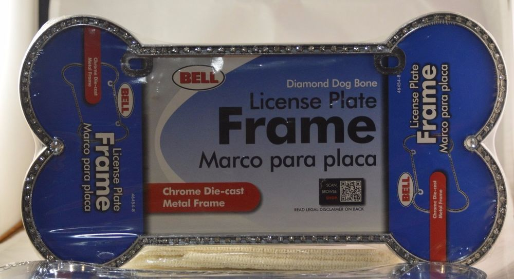 Diamond Dog Bone License Plate Frame Bling Bone Plate Frame Pretty ...