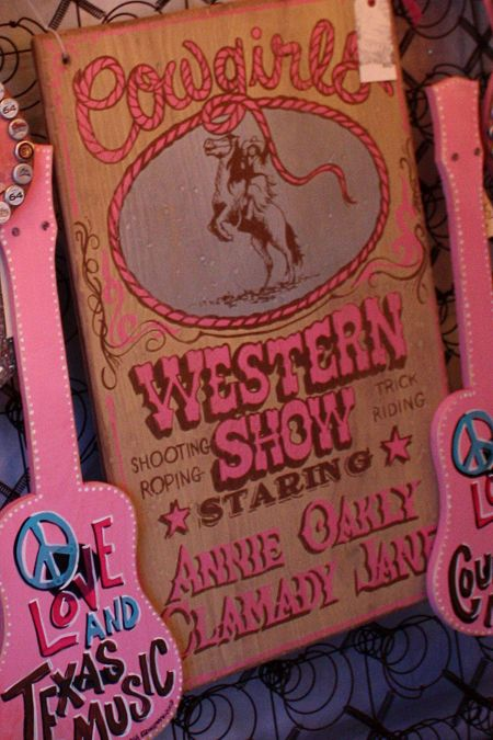 """Handmade by one of our friends this WONDERFUL COWGIRL SIGN is perfect in any gypsy nest!!!!  MeaSUres 35"""" x 22"""".   Painted sign made in USA of high quality 3/4"""" pine."""