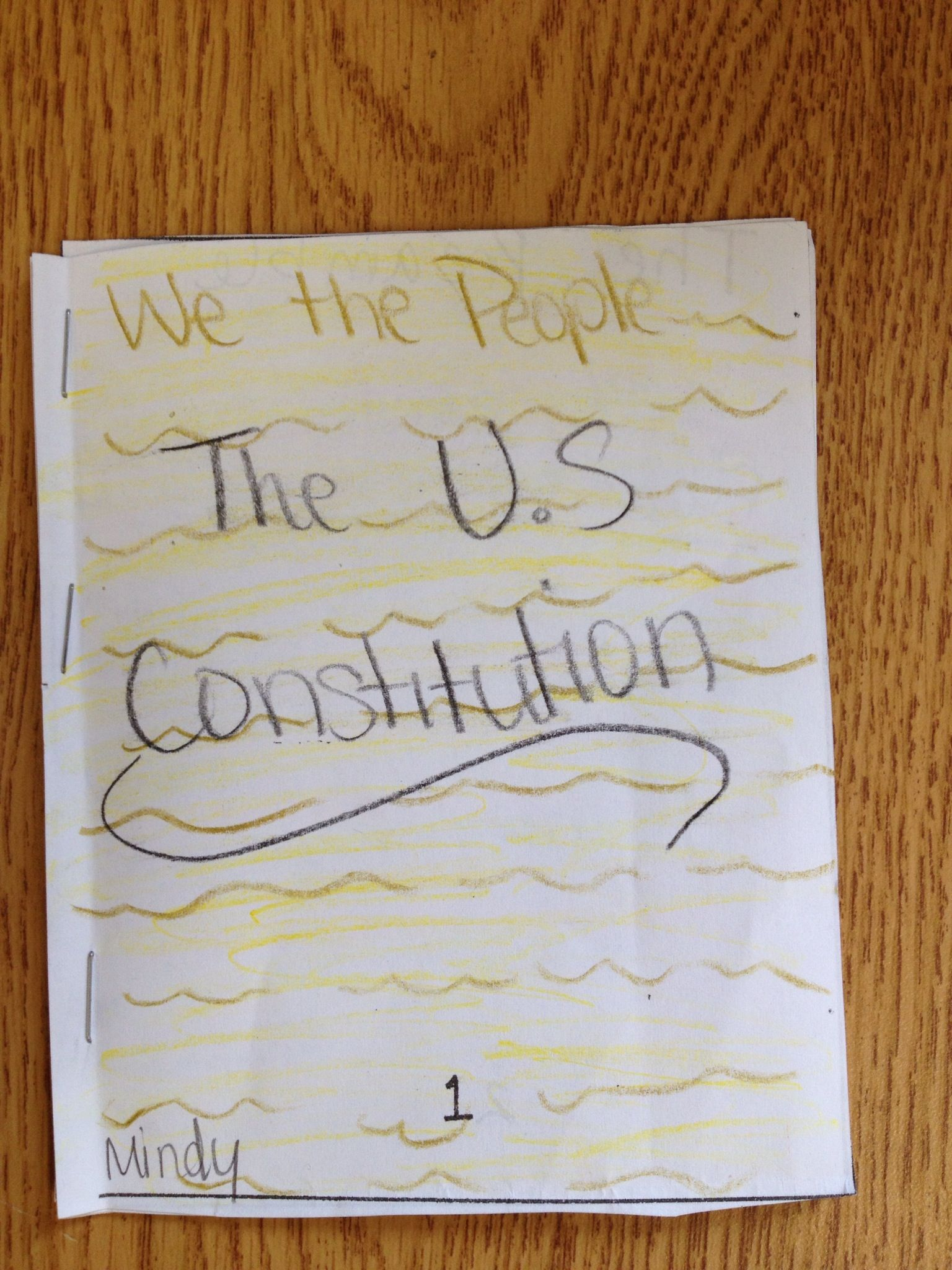 Completed Constitution Booklet