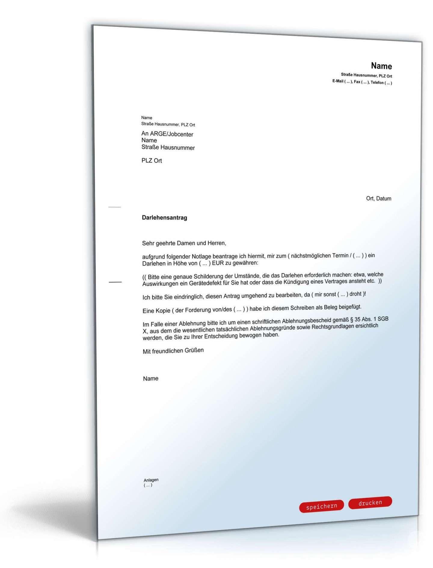 Antrag Darlehen Jobcenter Vorlage In 2020 Vorlagen Word Lebenslauf Rechnung Vorlage