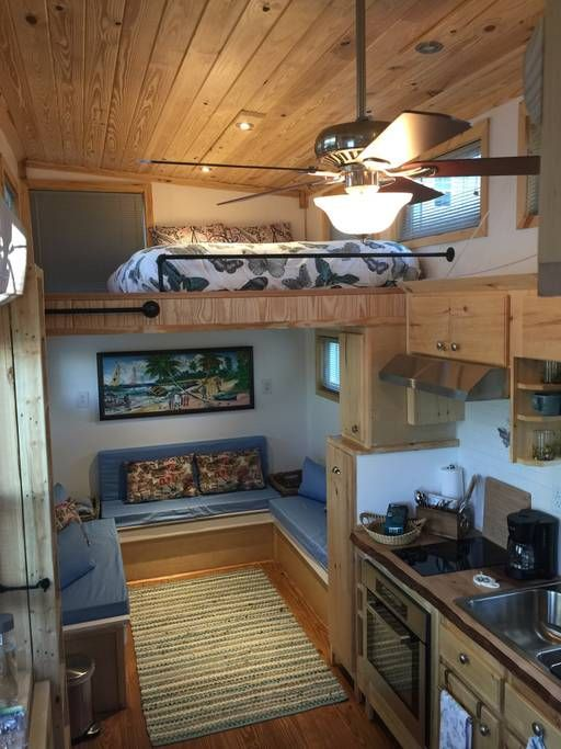 Living Area And Queen Loft Tiny Houses For Rent Tiny House Big Living House
