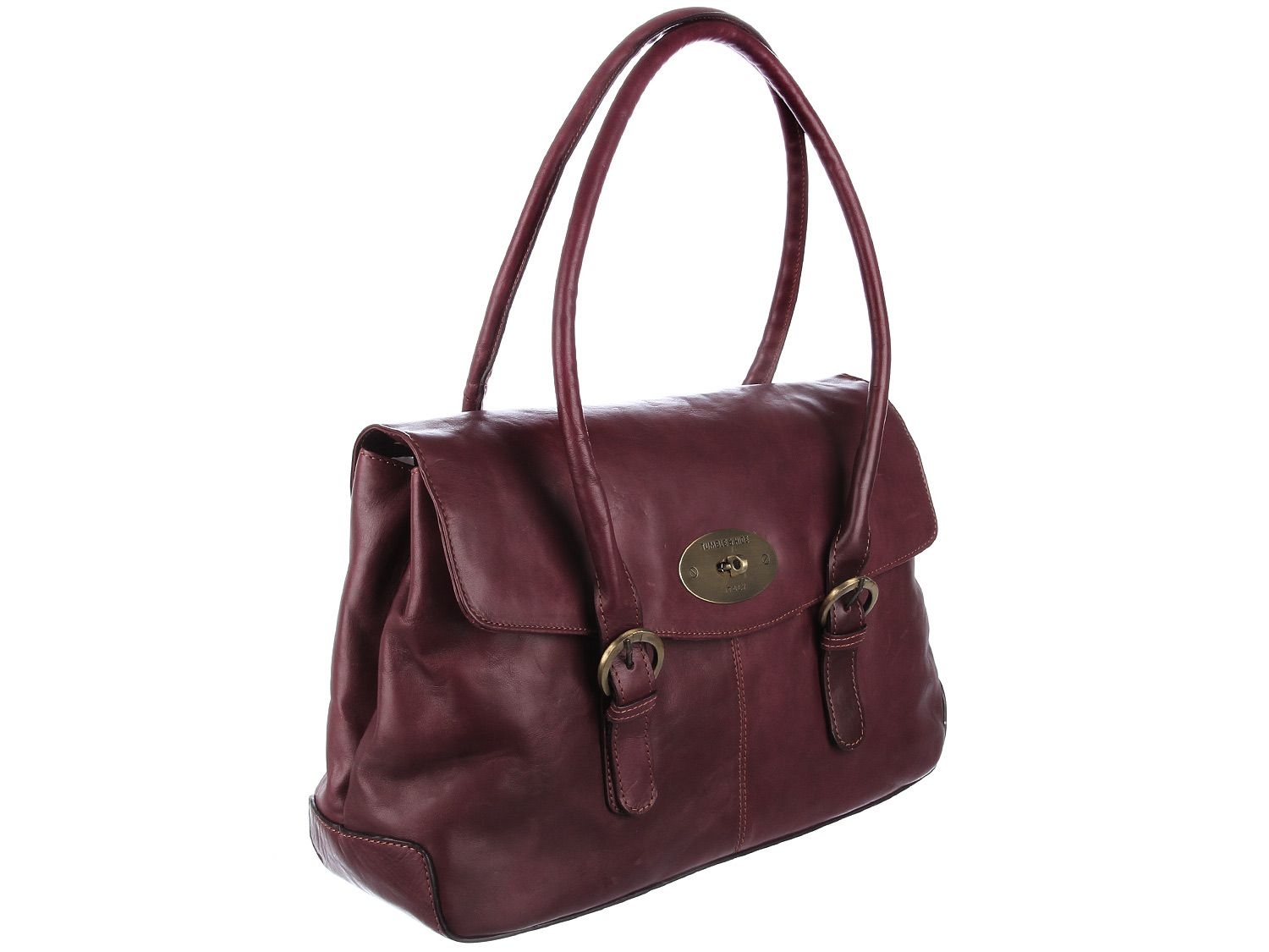 Tumble And Hide 'Verona' Plum Italian Leather Tote,Leather ...