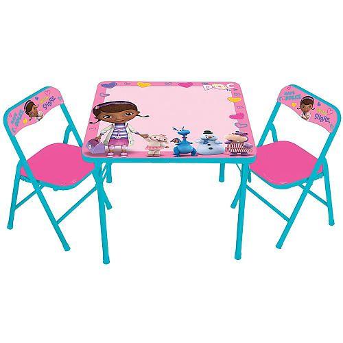 Disney Doc Mcstuffins Erasable Activity Table And Chair Set