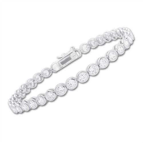 Exklusives Armband Silber Zirkonia Steine 12g - SB0040