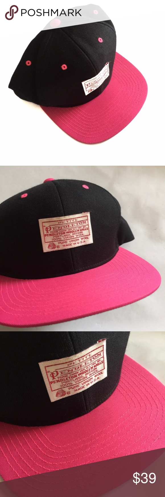 Pendleton Black Pink Grey Snap Back Trucker Hat Pendleton Black Pink Grey Snap Back Trucker Hat, excellent condition. Black with pink rim, green underside. Logo patch on front. Adjustable snap back. Pendleton Accessories Hats #pinkrims Pendleton Black Pink Grey Snap Back Trucker Hat Pendleton Black Pink Grey Snap Back Trucker Hat, excellent condition. Black with pink rim, green underside. Logo patch on front. Adjustable snap back. Pendleton Accessories Hats #pinkrims