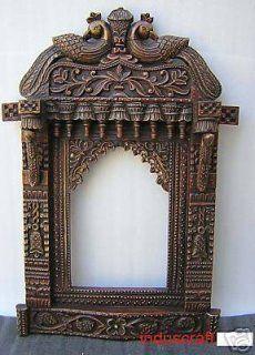 Jharokha Rajastani Window Mirror Wall Wood Wall Hanging