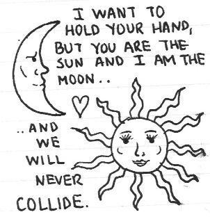 Sun and the moon <3