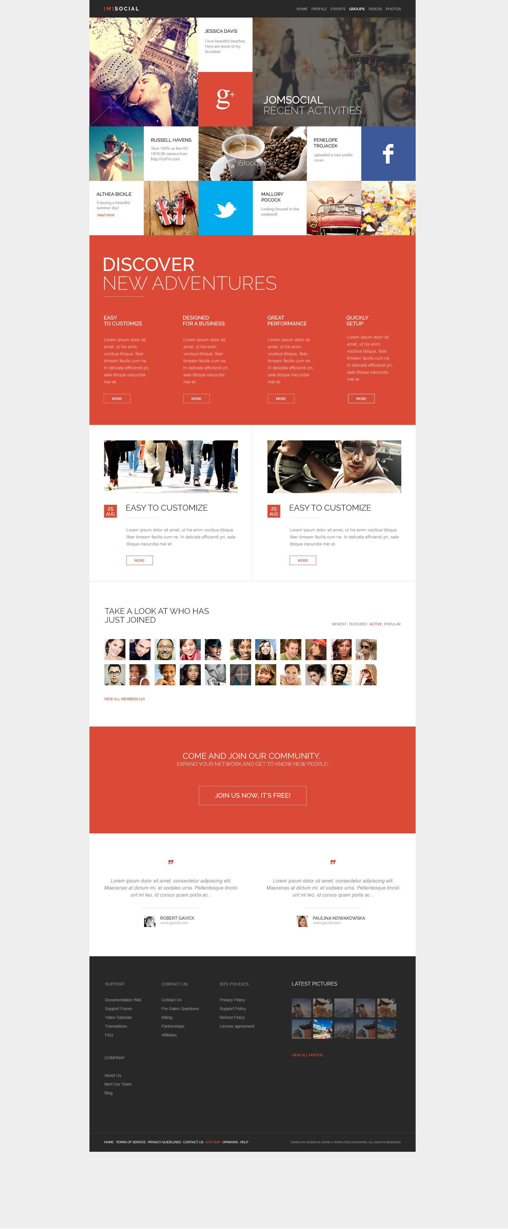 one page scrolling website template