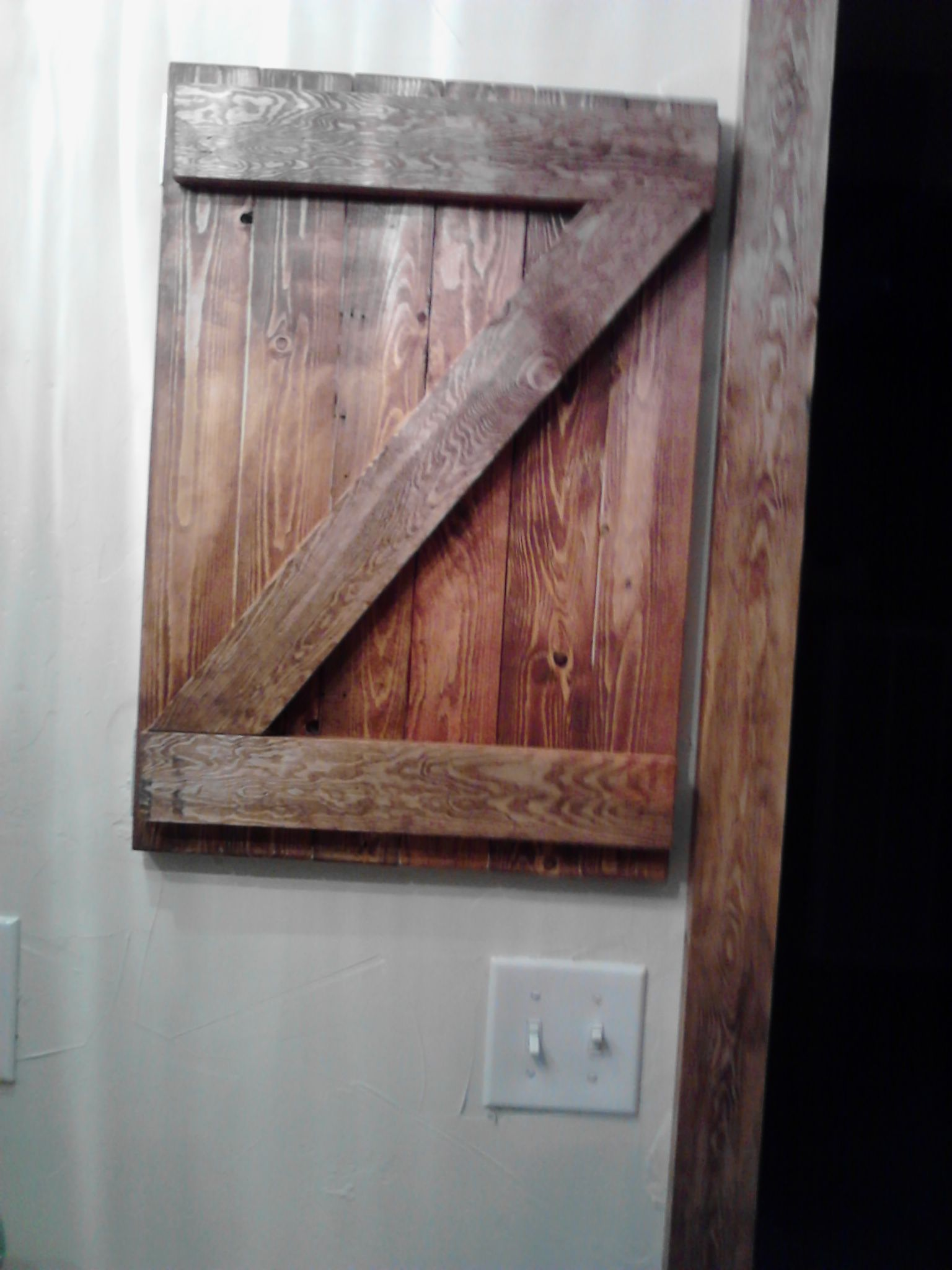 Rustic medicine door for our bathroom Rustic