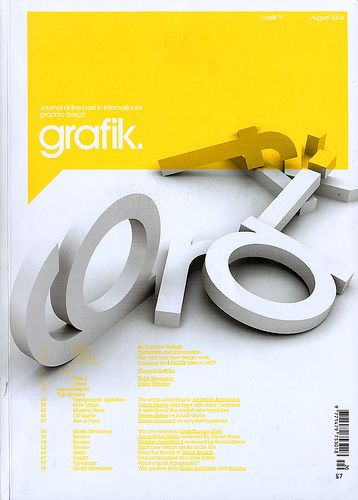 *graphic design, advertisement, fonts* - Cover design - Grafik, the Journal of the Best In International Graphic Design