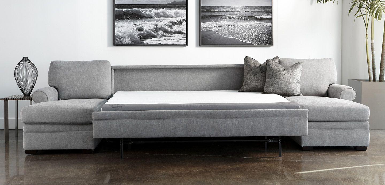 Sectional sleeper sofa comfort sleeper american leather
