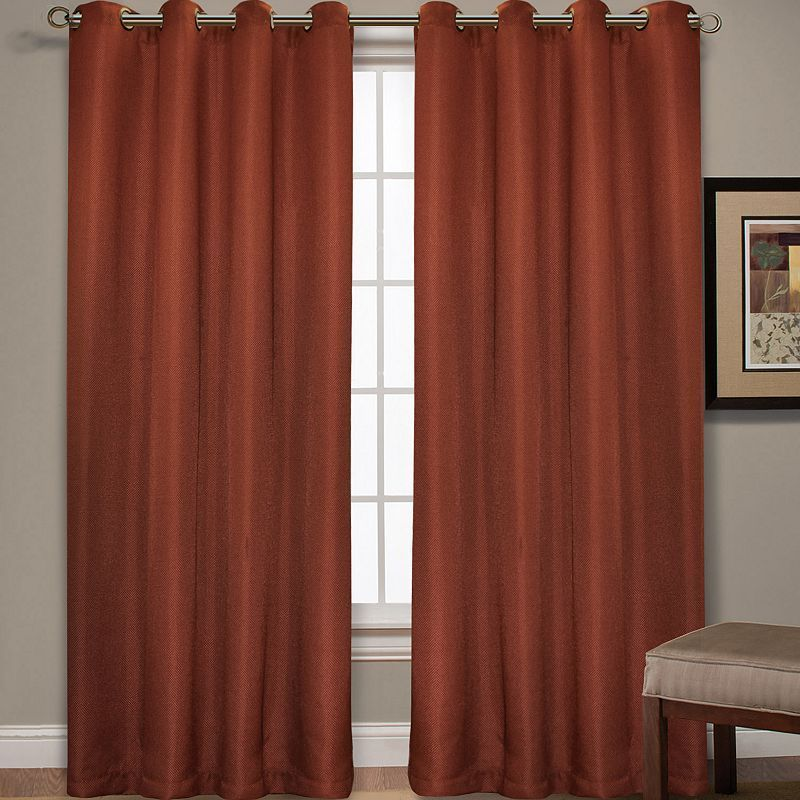 Spencer Home 1 Panel Decor Mika Basketweave Window Red