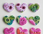 Millifiori polymer clay buttons by polymerclaybox on Etsy