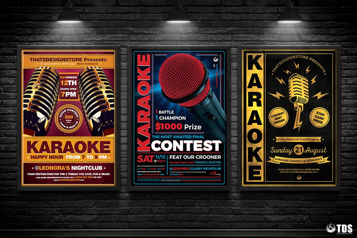 Karaoke Flyer Templates To Download For Photoshop  Flyer Template