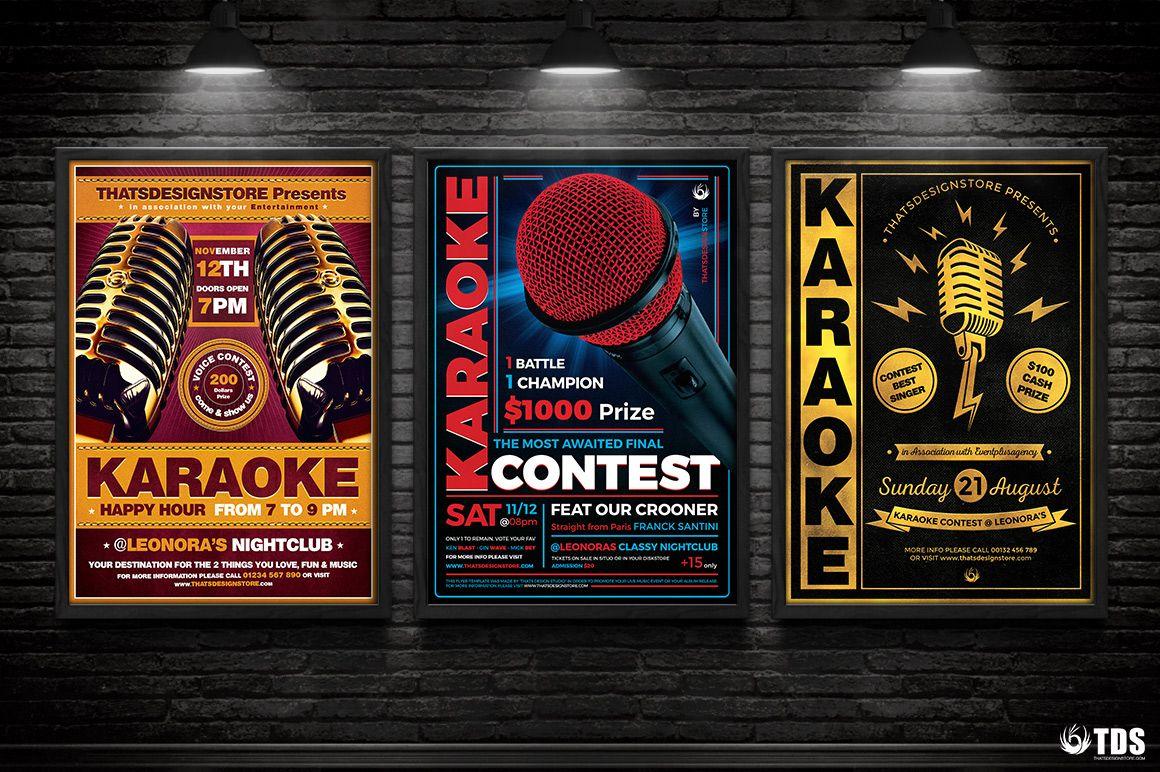 Karaoke Flyer Templates To Download For Photoshop Karaoke Flyer