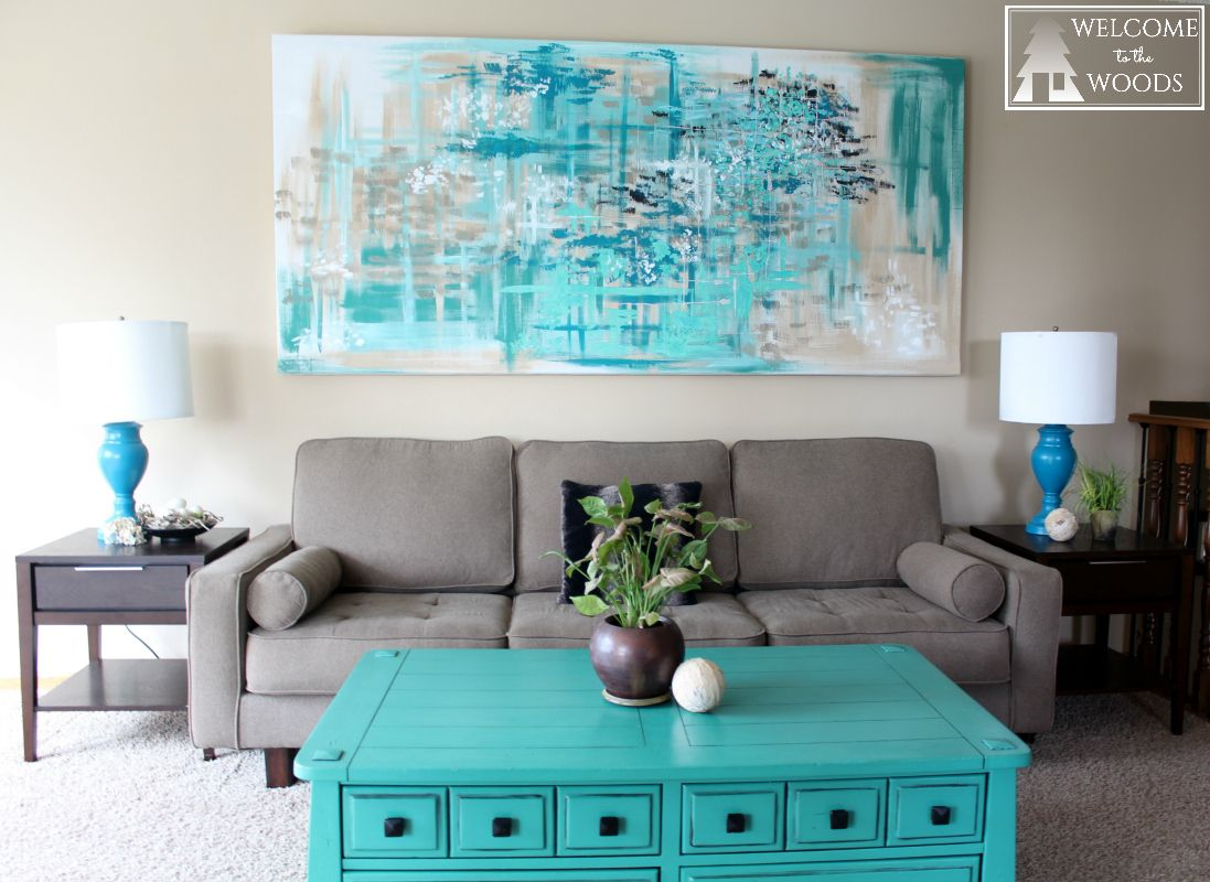 I LOVE This Giant Abstract Piece Of Artwork As Wall Decor In The Living Room