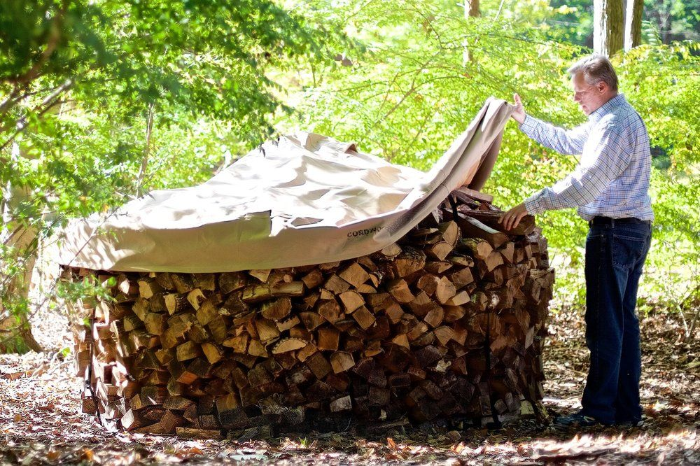 Cordwood Covers How To Build A Firewood Rack Without The Rack Firewood Wood Rack Firewood Rack