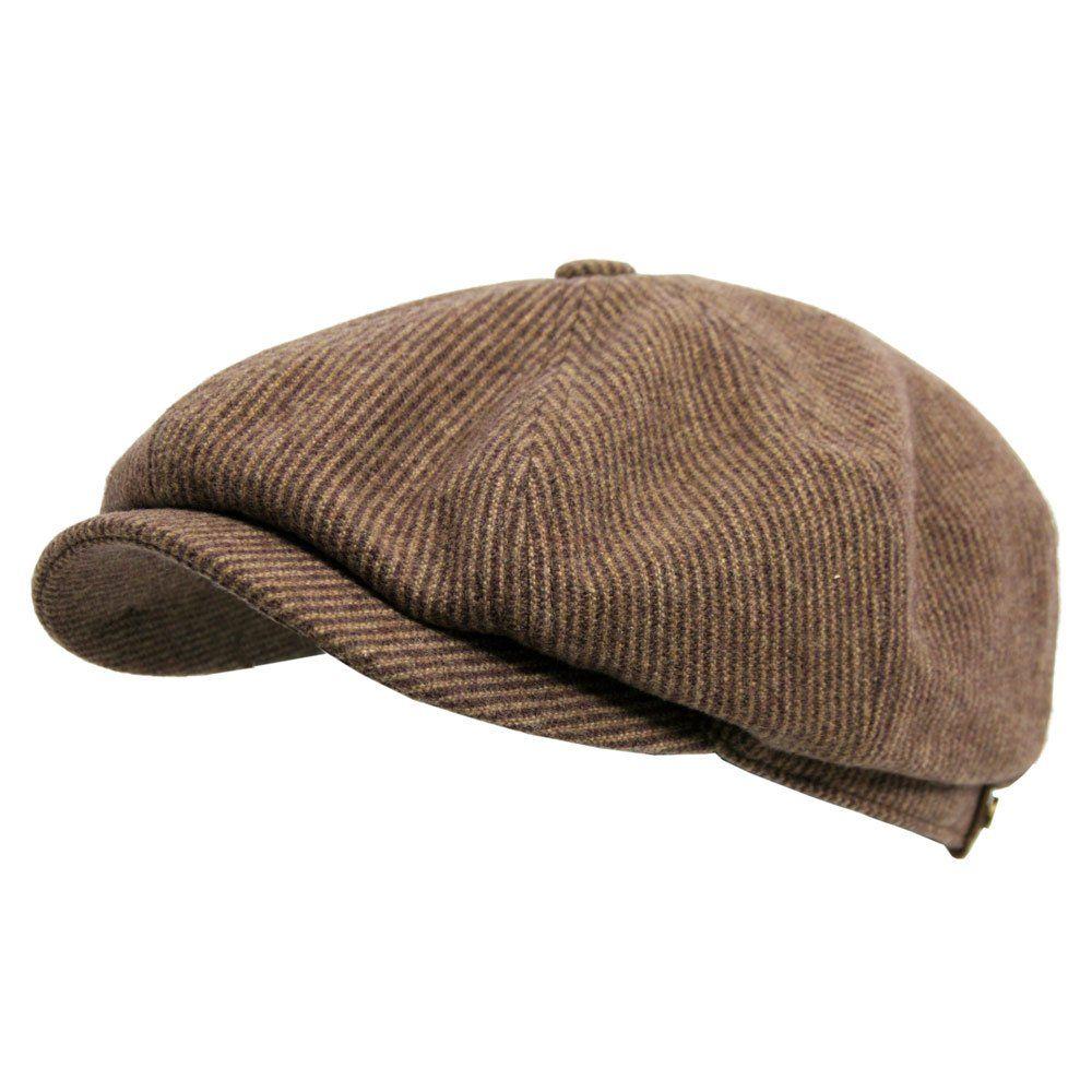Panel Homespun Harris Tweed Pattern Newsboy Cap Cabbie Gatsby Hat F3