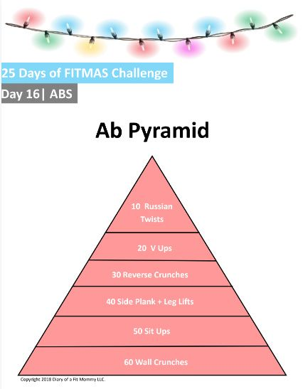 FREE 25 Days of FITMAS Workout Challenge #workout