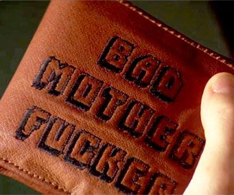 7ea7938ef Carry around your cash like the badass you are with the Bad Mother Fucker  wallet. Inspired by the beautifully crafted wallet seen in Pulp Fiction