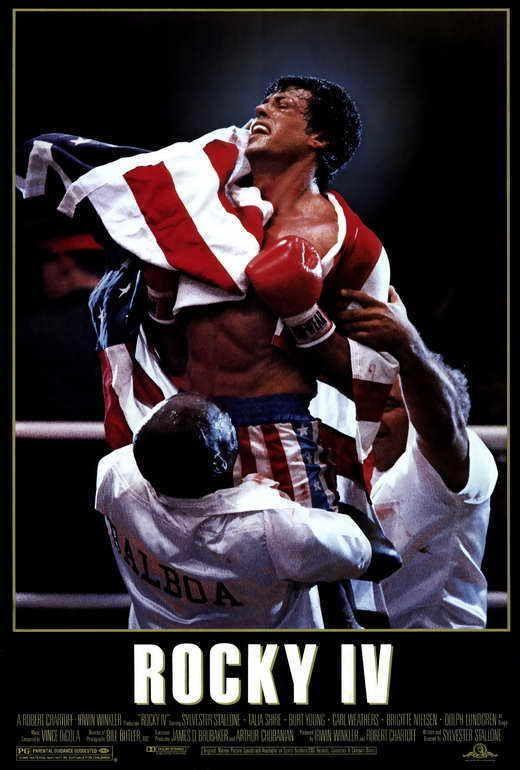 Rocky 4 Movie Poster 27x40 Sylvester Stallone Talia Shire Dolph Lundgren Rocky Balboa Sylvester Stallone Sylvester