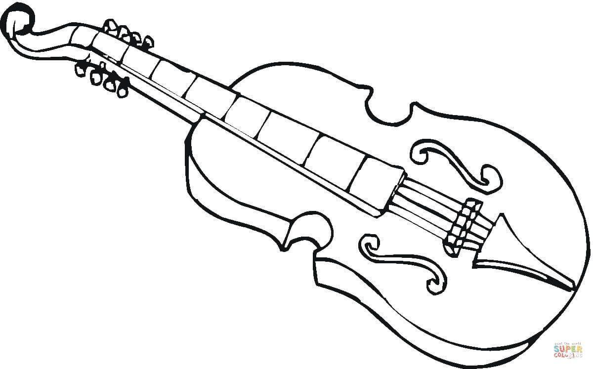 Pin By Maria Buenos Aires On 3 Musica Instrumentos Coloring Pages Viola Color