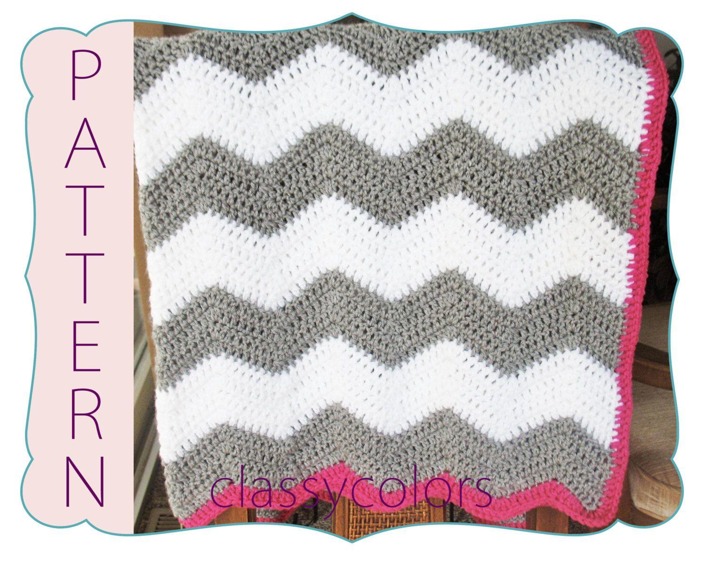 CROCHET PATTERN Chevron baby blanket crochet by ClassyColors, $5.00 ...