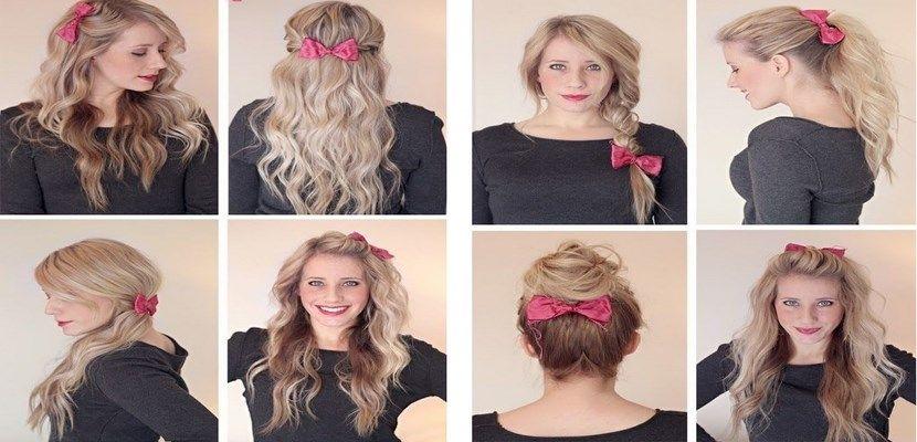 Ocho maneras de añadir lazos a tu peinado - http://www.entrepeinados.com/ocho-maneras-de-anadir-lazos-tu-peinado.html