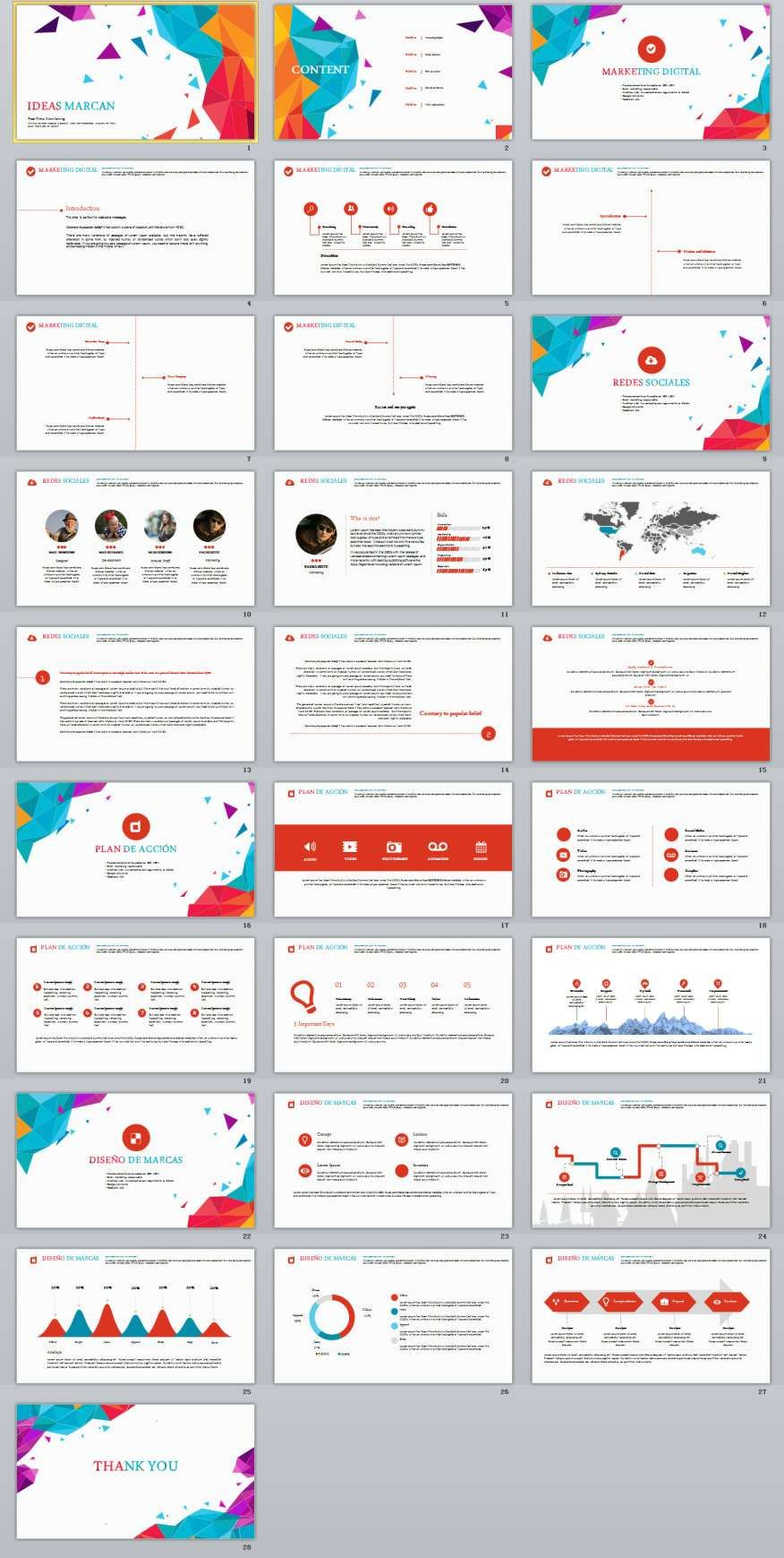 28  annual report powerpoint template