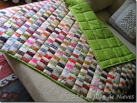 Chinese coins quilt de Marta quilting patchwork quilt scrappy