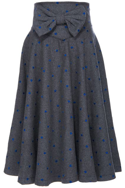 ROMWE | ROMWE Bowknot Embellished Grey Midi Skirt, The Latest Street Fashion.... Oh my goodness! Yes please! #sistermissionary
