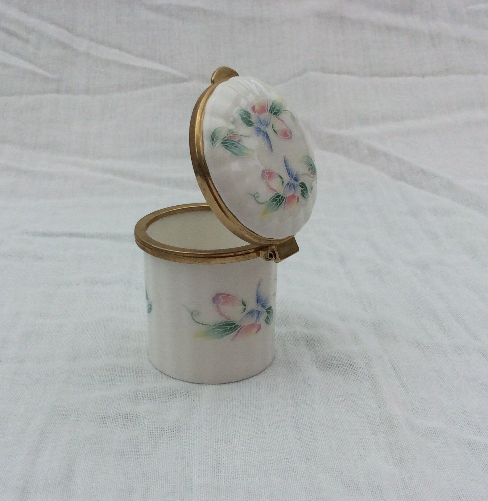 Vintage Chinese Trinket Box Jewelry Box Ring Box