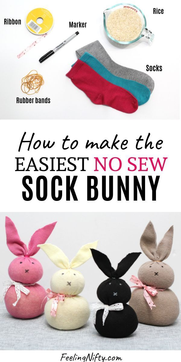 Photo of The Easiest Easter Bunny Craft using Unmatched Socks {No-Sew}