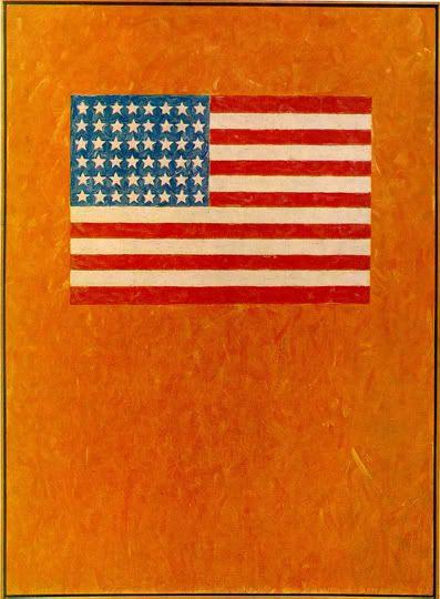 Flag On Orange Field Jasper Johns 1957 Jasper Johns Flag Art Shop Art Prints