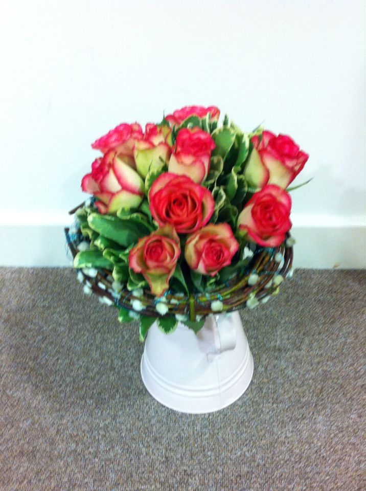 Rose Bouquet with a Salix