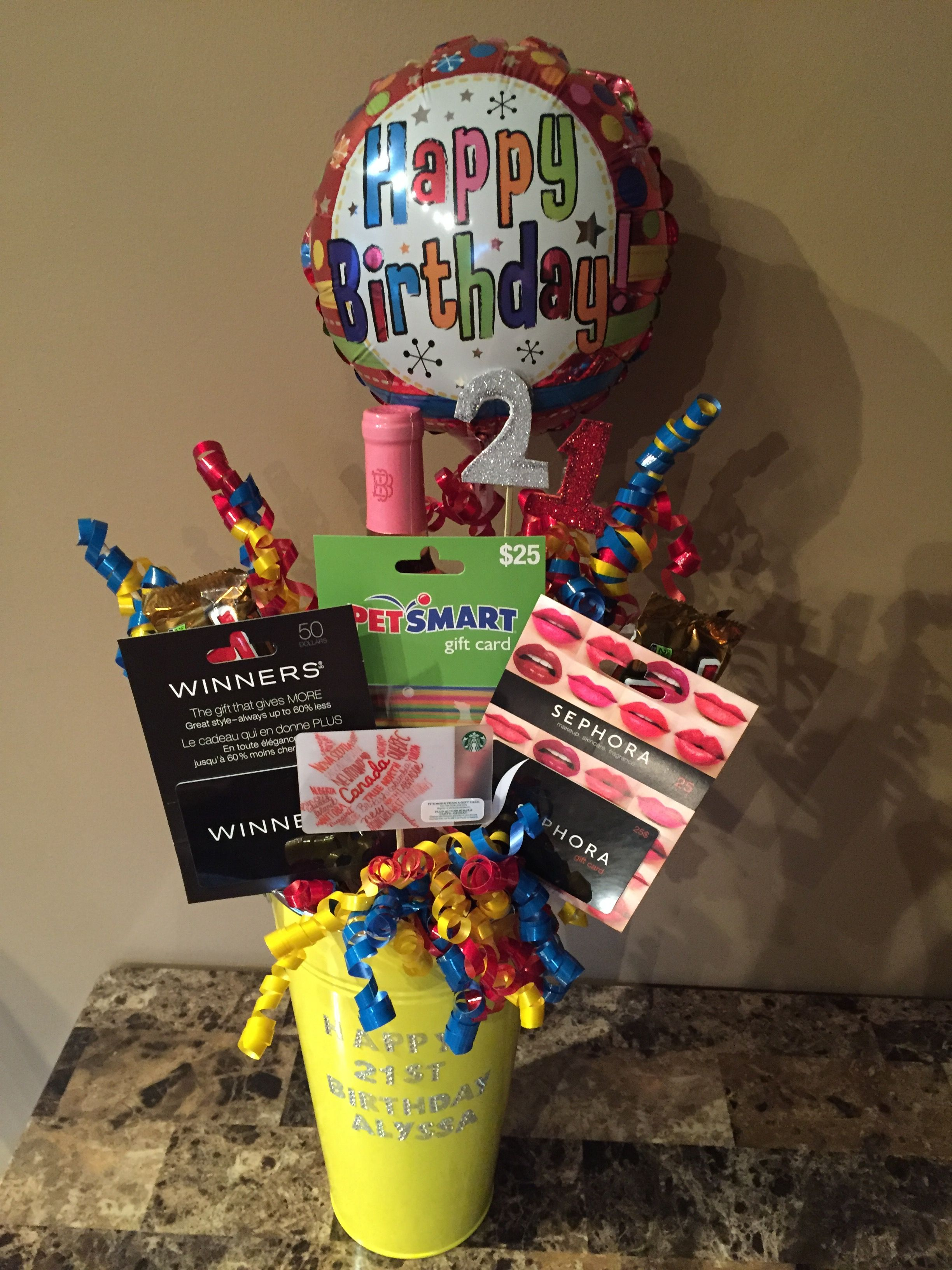 Gift basket i made up for lyss 21 st birthday snacks