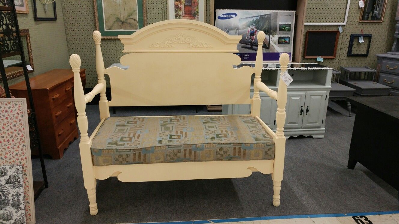 Yellow Decorative Day Bed With Cushion Location: Benu0027s Furniture And  Antiques 9552 Hwy 5 Douglasville